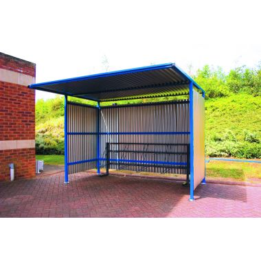 Traditional Outdoor Galvanised Shelter - Medium, Extra Wide