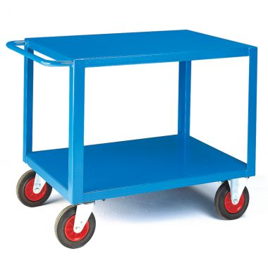 Two Tier Heavy Duty Table Trolley - Steel Top (Large)