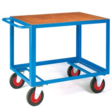 Heavy Duty Table Trolley - Timber Top (Large) - TT240T
