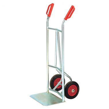 Zinc Plated Sack Truck - Solid Wheels