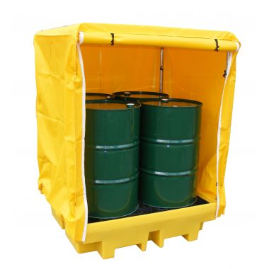 Bunded Pallet - Four Drum (Covered)