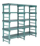 Hygienic Plastic Shelving - Five Shelves