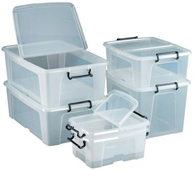 Clear Storage Containers - 24 Litre (10 pack)