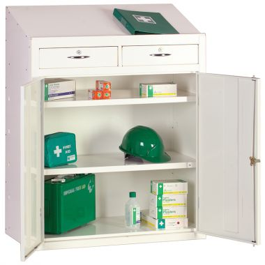 First Aid Storage Cupboard And Workstation