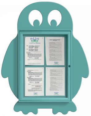 Wall Mounted Fun Notice Board - Penguin
