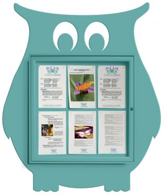 Wall Mounted Fun Notice Board - Owl