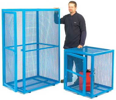 Single Door Mesh Security Cage - Large