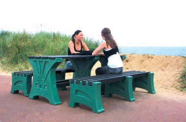 Plastic Table and Bench