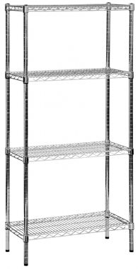Wire Mesh Shelving - Chrome Unit