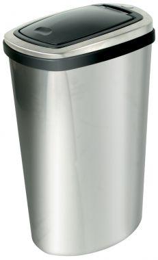 40 Litre Stainless Steel Spring Lid Bin