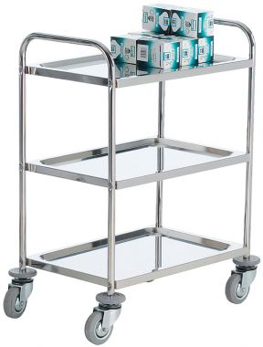 Stainless Steel Trolley - Three Tier