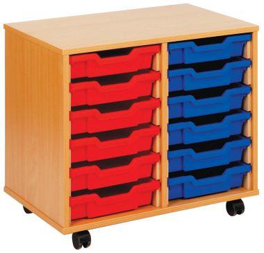Tray Storage Unit - Twelve Shallow Trays