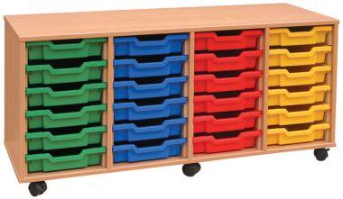 Tray Storage Unit - Twenty Four Shallow Trays