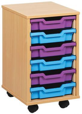 Tray Storage Unit - Six Shallow Trays