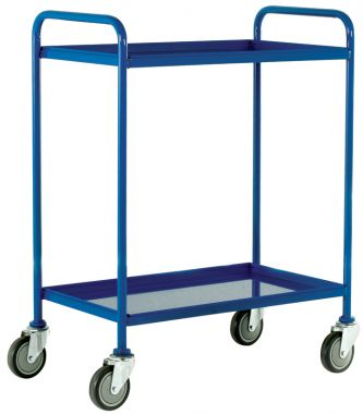 Two Tier Tray Trolley - Steel Shelves (Small)