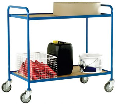 Two Tier Tray Trolley - Plywood Shelves (Small)