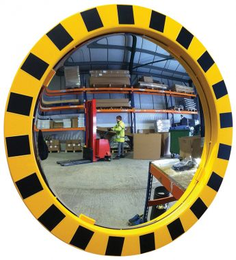 Framed Circular Mirror