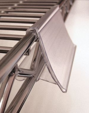 Wire Shelving Additions - Twelve Label Holders