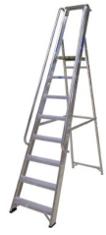 Aluminium Ladder With Hand Rail