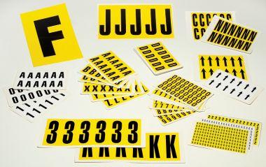 Self Adhesive Number Packs
