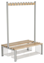 Changing Room Bench Seating - Double Sided With Shoe Trays - 1500 mm - CRDI24T