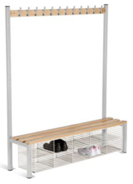 Changing Room Bench Seating - Single Sided with Compartments - 1200 mm - CRSI9C