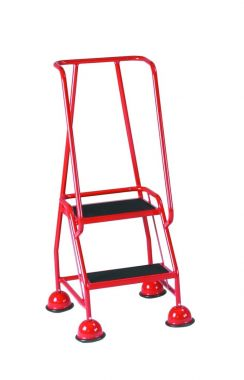 Classic Steel Mobile Safety Steps with 2 Treads