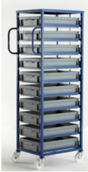 Mobile Tray Rack – 10 Shallow Trays