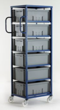 Mobile Tray Rack – 6 Deep Trays