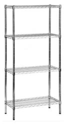 Wire Mesh Shelving - Chrome Unit
