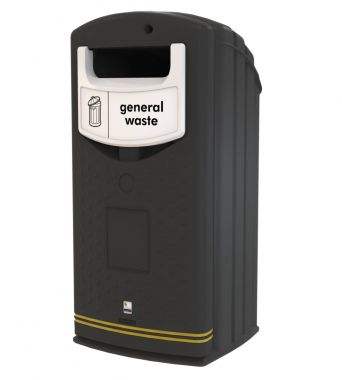 Outdoor Recycling Bank with 140 litre wheelie bin