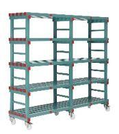 Hygienic Plastic Shelving - Four Shelves