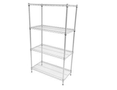 Wire Mesh Antibacterial Shelving - 4 shelf