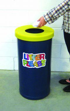 70 Litre Popular Litter Bin - Litter Please Logo
