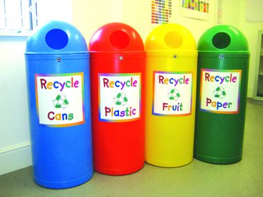 Recycling Bin - Junior Style (Set of four)