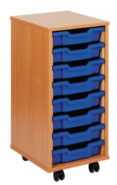 Tray Storage Unit - Eight Shallow Trays