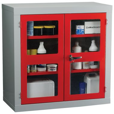 Double Door Industrial Clear Front Cabinet - Small